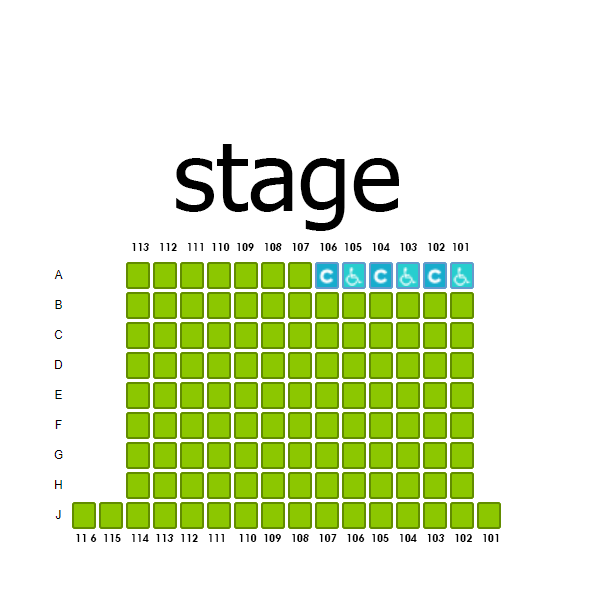 Proscenium Seating Chart